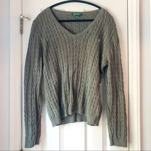 Ralph Lauren Cable Knit Sweater, XL
